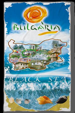 Хавлиени кърпи Черно море България карта