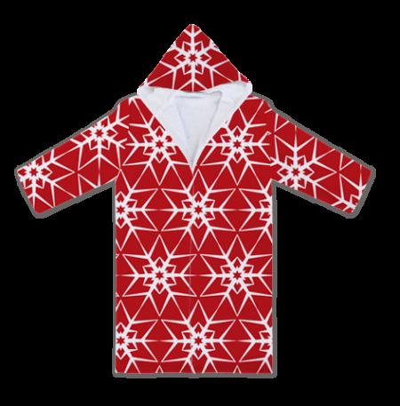 Халати с Червени Коледни Снежинки