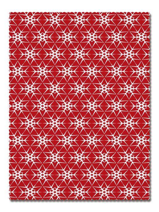 Покривка Червени Снежинки