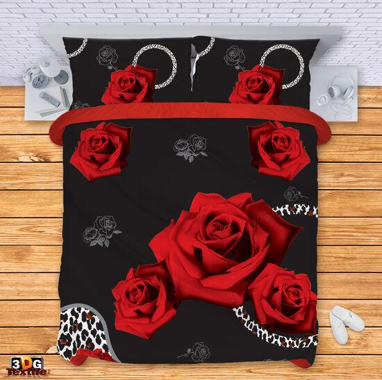 Спално бельо щампа Рози