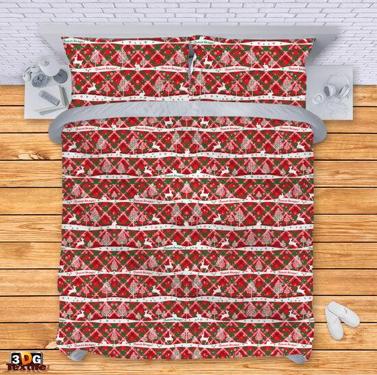 Спално бельо Коледа Каре 2