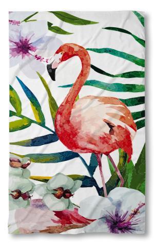 Хавлиена кърпа червено Фламинго