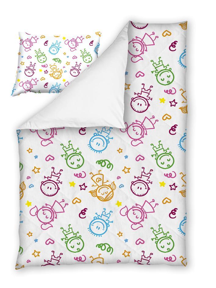 Бебешки спален комплект Щастливи Дечица 100% памук