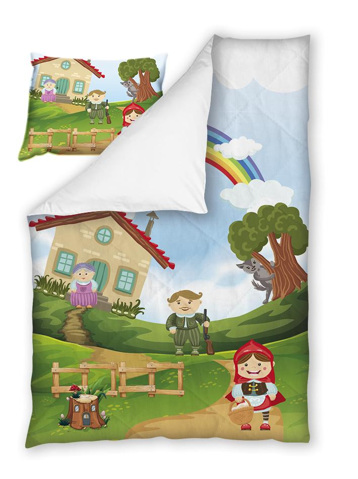Бебешки спален комплект Червената шапчица 100%  памук