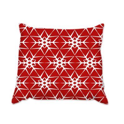 Коледна звезда червена