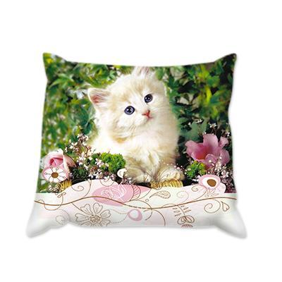 Възглавница Коте с цветя