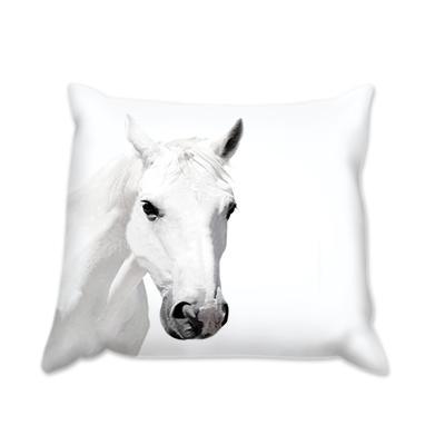 Възглавница бял Кон