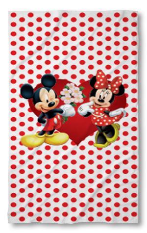 Хавлиени кърпи Мини и Мики червени точки
