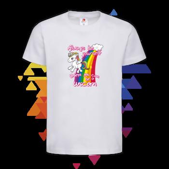 Детска Тениска Еднорог с дъга