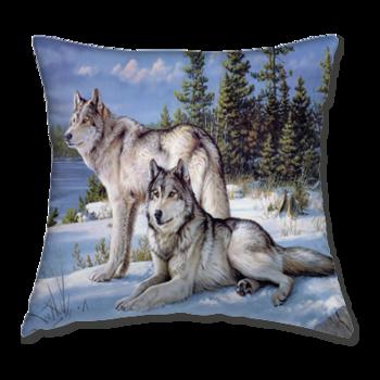 Възглавница Зимни Вълци