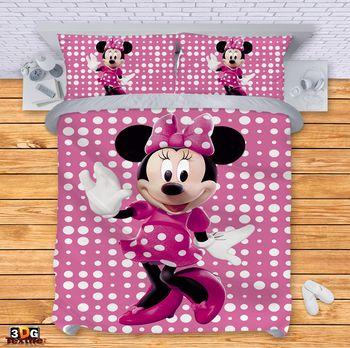 Спално бельо Мини маус розово