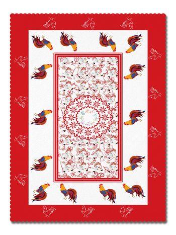 Покривка Великден червен петел