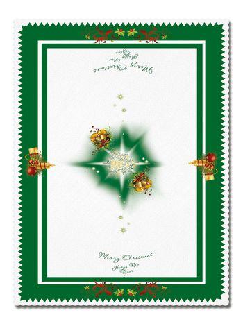 Покривка Коледна зелена