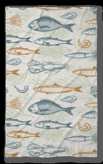 Хавлиена кърпа Риби беж