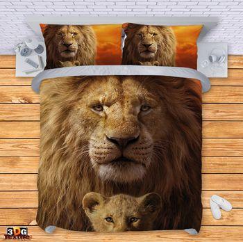 Спално бельо Цар лъв 3D