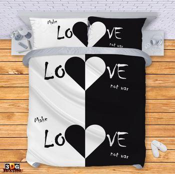 Спално бельо Прави любов, а не война