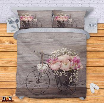 Спално бельо Колело с цветя