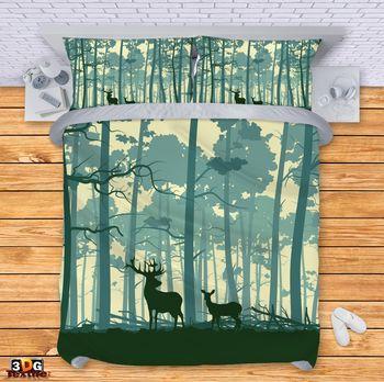 Спално бельо Елени в гората