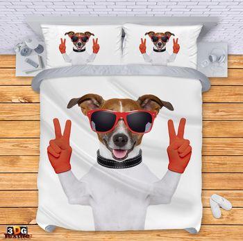 Спално бельо Куче с очила