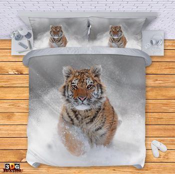Спално бельо Тигър в снега