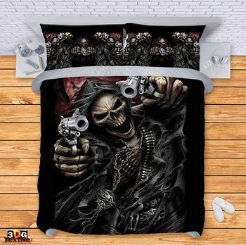 Спално бельо Скелет с пистолети