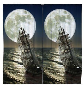 Завеси Кораб с луна