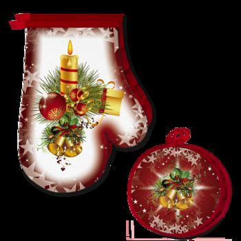 Ръкавицa и ръкохваткa Коледни Свещи