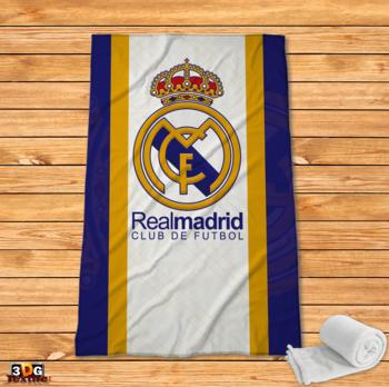 Поларено одеяло Принт Реал Мадрид