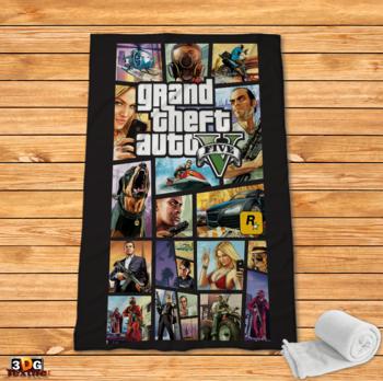 Поларено одеяло Принт GTA