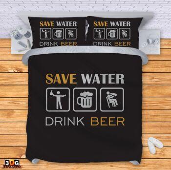 Спално бельо Пести вода Пий бира Save water Drink beer