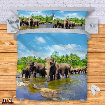 Спално бельо Слонове