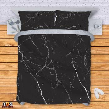 Спално бельо Черен Мрамор 2
