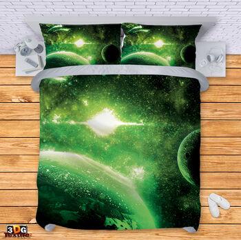 Спално бельо Зелена Галактика