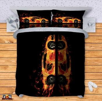 Спално бельо Ламборгини в пламъци