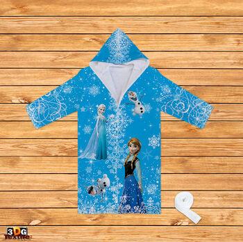 Халати за баня Замръзналото кралство в синьо