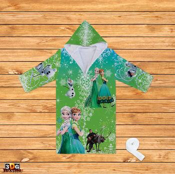 Халати за баня Замръзналото кралство в зелено