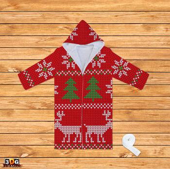 Халати за баня Коледен Пуловер