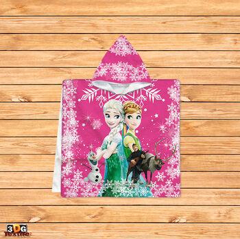 Пончо Треска за Замръзналото кралство в розово