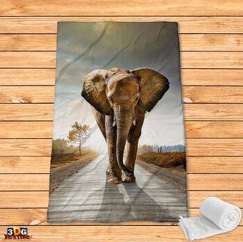 Поларено одеяло Принт Слон