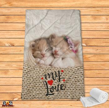 Поларено одеяло Принт котката Мари