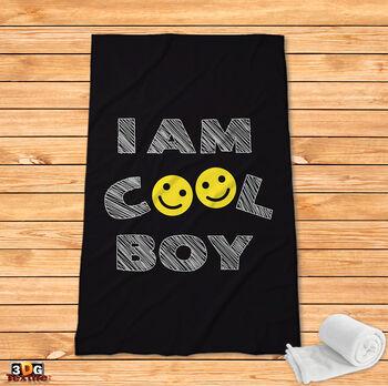 Поларено одеяло Принт Готино момче Cool Boy