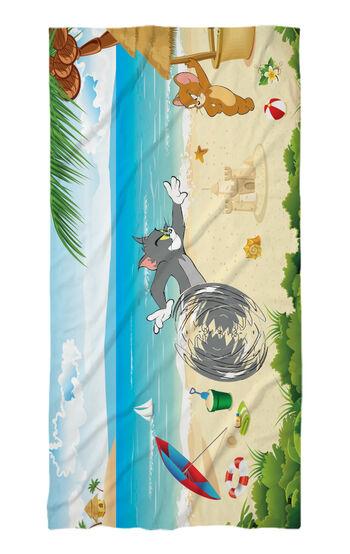 Хавлиени кърпи Том и Джери на плажа