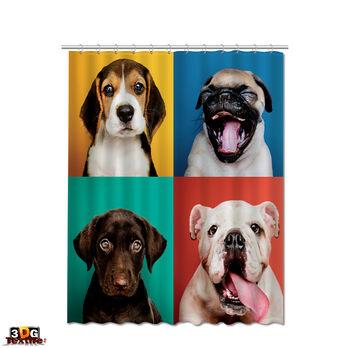 Завеса за Баня Забавни Кучета