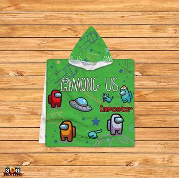 Пончо Among Us Зелен