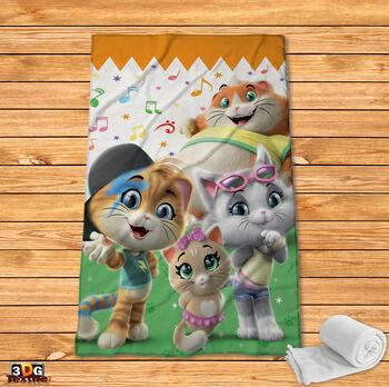 Поларено одеяло Принт 44 котки