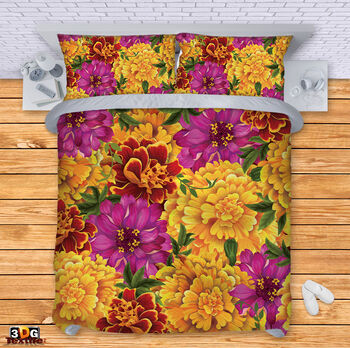 Спално бельо Цветя 3