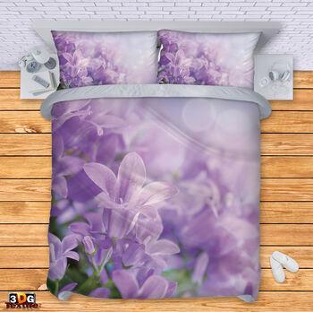 Спално бельо Цветя лилави
