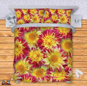 Спално бельо Цветя жълти