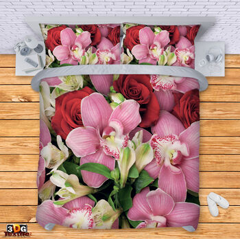Спално бельо Рози и орхидеи