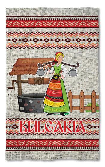 Кухненска хавлиена кърпа Момиче с менци